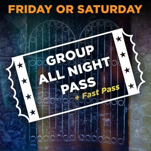 Friday/Saturday Scream Park Group All Night Pass + Fast Pass