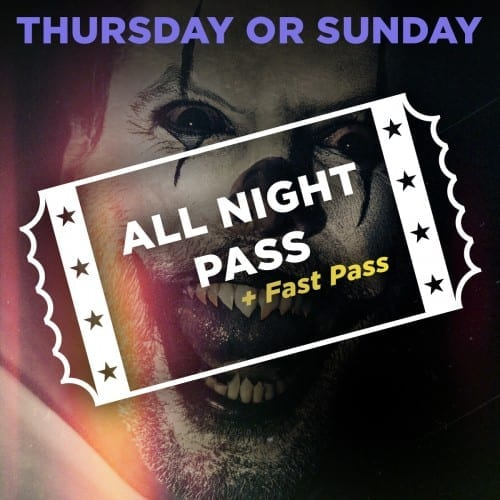 Scream Park All Night Access + Fast Pass