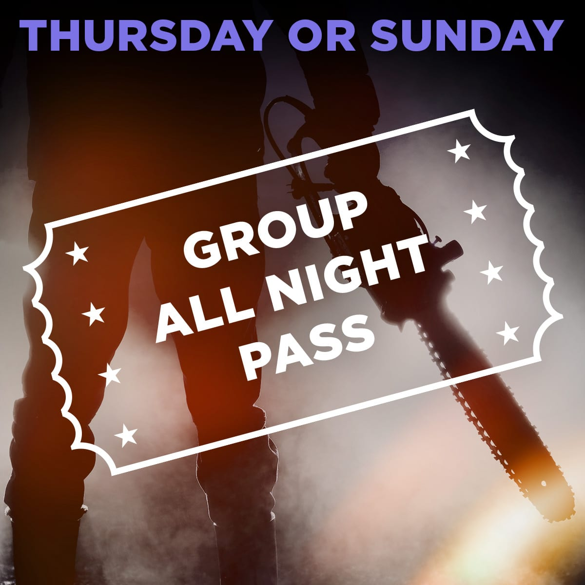 Scream Park All Night Pass for Groups